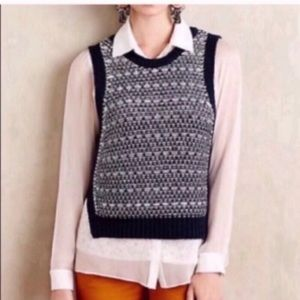 Anthropologie Moth Kana Knit Sweater Vest